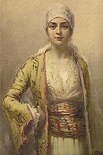 Portrait of an unknown Ottoman woman. Orientalists - prob late 1800s or early 1900s.