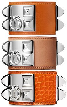 Hermes Collier De Chien Bracelets.  My French is rusty, but I think that translates loosely to Dog Collar Bracelets.  I want them all anyway.