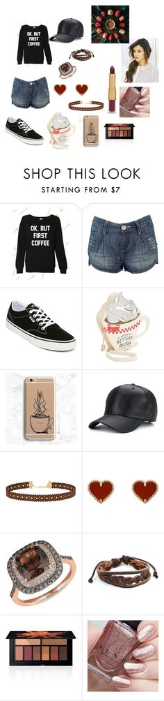 """""""I need Coffee Man"""" by countrycowgirl-1718 on Polyvore featuring Babakul, Vans, Betsey Johnson, Samsung, Miss Selfridge, Van Cleef & Arpels, Lord & Taylor, West Coast Jewelry, Smashbox and tarte"""
