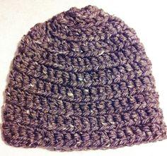 Lion Brand Santa Fe Tweed crocheted hat
