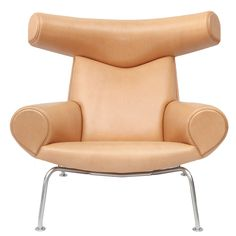 Hans Wegner Ox Chair | From a unique collection of antique and modern lounge chairs at https://www.1stdibs.com/furniture/seating/lounge-chairs/