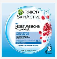 Garnier Skinactive Moisture Bomb Tissue Mask Garnier Skinactive Moisture Bomb Tissue Mask: Express Chemist offer fast delivery and friendly, reliable service. Buy Garnier Skinactive Moisture Bomb Tissue Mask online from Express Chemist today! (B http://www.MightGet.com/january-2017-11/garnier-skinactive-moisture-bomb-tissue-mask.asp