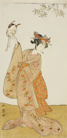 Katsukawa Shunsho. The Actor Segawa Yujiro I as Matsukaze, Sister of Togashi no Saemon, in the Play Gohiiki Kanjincho. Performed at the Nakamura Theater from the First Day of the Eleventh Month, 1773.
