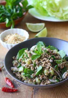 Thai Minced Pork Salad with Lemongrass Ginger Seasoning