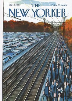 The New Yorker - Saturday, October 7, 1967 - Issue # 2225 - Vol. 43 - N° 33 - Cover by : Arthur Getz