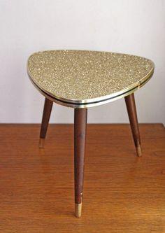 table tripode des annÉes 50 customisÉe via retour de chine. click