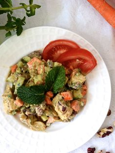 No Mayo Curry Chicken Salad - The perfect recipe for #WeekdaySupper or a cookout.