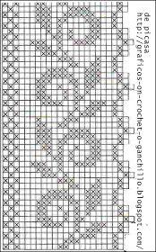 Crochet Mandala Pattern, Crochet Cross, Crochet Stitches Patterns, Crochet Chart, Filet Crochet, Beading Patterns, Embroidery Patterns, Cross Stitch Borders, Cross Stitch Designs