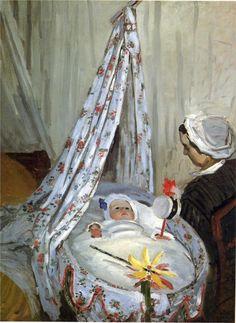 JEAN MONET IN THE CRADLE, 1867, Claude Monet       Artist: Claude Monet