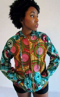 African Print Mix Summer Hoodie by ifenkili on Etsy, $35.00