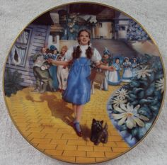 """Wizard of Oz """"FOLLOW THE YELLOW BRICK ROAD""""  Knowles Collection Plate   ?NEW?"""