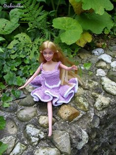 """Puppenkleidung - Barbie als """"Ballerina"""" *** violett/lila - ein Designerstück von Sabisilke bei DaWanda"""