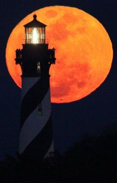 Lighthouse & Supermoon