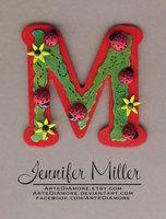 The letter M, Sunflowers & ladybugs #cake #topper  ArteDiAmore's deviantART Gallery