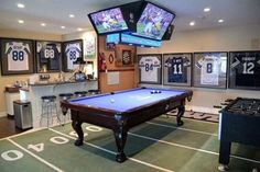 room design The Ultimate Game Room - Dallas Cowboys Style - Brooklyn Berry Designs Man Cave Designs, Man Cave Room, Man Cave Diy, Man Cave Home Bar, Man Cave Game Room Ideas, Cool Man Cave Ideas, Attic Man Cave, Men Cave, Man Cave Garage