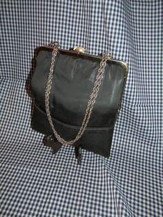 Harry Levine Black Evening Bag / Purse by trackerjax on Etsy
