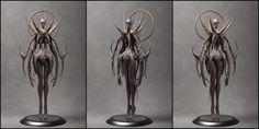 Unknow Angel [Clay Render], Pavee Keawmafai on ArtStation at https://artstation.com/artwork/unknow-angel-clay-render