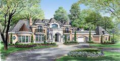 Bellerive House Plan - Front Rendering