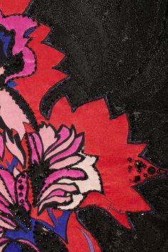 Emilio Pucci Floral-appliquéd lace mini dress NET-A-PORTER.COM