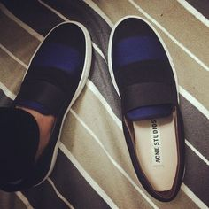 Two-Tone Slip-On Sneakers by Acne