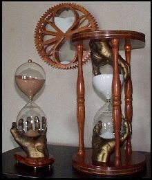 Hand on left :) Falling Sand, Water Clock, Hourglass Sand Timer, Melting Clock, Egg Timer, Sand Timers, Bone Jewelry, Room Accessories, Glass Design