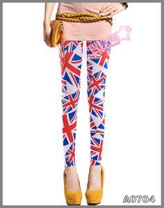 2013 Women Leggings Print Punk British Flag Leggings Winter Pants Leggings For Girls Stocking LML0005