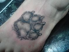 My pug's paw print on my left foot 3/7/12
