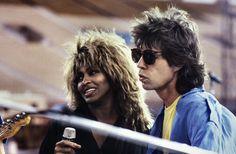 Tina Turner and Mick Jagger@ Live Aid JFK stadium