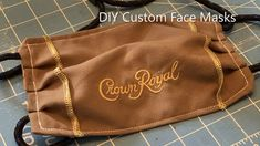 In this short tutorial, I will show you how to sew a Face Mask to be used for personal protection in public. Make A Crown, Diy Crown, Diy Mask, Diy Face Mask, Face Masks, Diy Videos, Corona Real, Laughing Funny, Crown Royal Bags