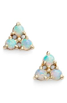 WWAKE Triangle Opal Earrings available at #Nordstrom #opalsaustralia