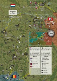 Operation map US 82 en US 101 Airborne Division