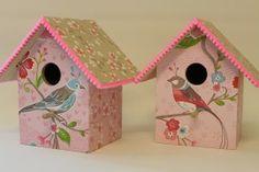 Vogelhuisje voor de kinderkamer, ook mogelijk met lampje en of muziekdoosje pip birds in paradise roze Birdhouse for nursery with music box or lamp