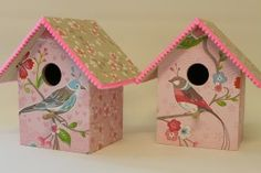 ... birds in paradise roze Birdhouse for nursery with music box or lamp