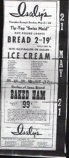 Isaly's ad 5/21/1964