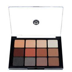 Viseart 12-Color Eyeshadow Palette - 01 Matte | Camera Ready Cosmetics