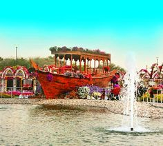 The Dubai Miracle Garden has Abra Boats on display. These Abra boats bloom colorful petunia flowers all over them. Different Flowers, Large Flowers, Million Flowers, Petunia Flower, Purple Petunias, Miracle Garden, World's Biggest, Boat Building, The Visitors
