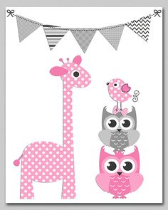 https://www.etsy.com/listing/176176408/pink-and-grey-giraffe-and-owl-nursery?ref=related-4