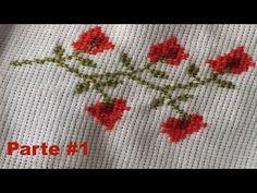 Guia de Florecitas en Punto de Cruz (Parecen Fresitas) Parte 1 de 2 - YouTube