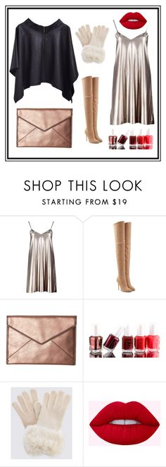"""""""Luxury"""" by huyentrangle238 on Polyvore featuring Boohoo, Balmain, Rebecca Minkoff and Essie"""