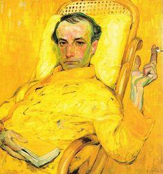 """Scale in Yellow"",  franz Kupka retrata a partir de um daguerreotipo um decadente Charles Baudelaire."
