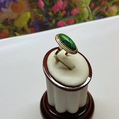 17,6 mm Art Deco Ring Gold 585 mit Howlith grün edel Vintage GR498 Ringe Gold, Art Deco Ring, Toe Rings, Etsy, Vintage, Jewelry, Jewels, Gold Rings, Craft Gifts