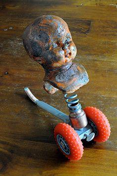 Doll Head Sculpture -- The Senna Push Toy