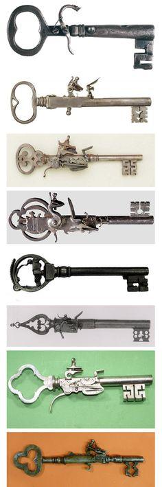 Antique key pistols. I want them all.
