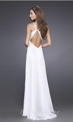 Sheath Chiffon Asymmetric Long Dress fashion00511
