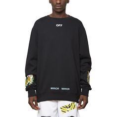 Tiger sweatshirt from the S/S2017 Off-White c/o Virgil Abloh collection in black