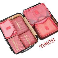 yimoji Travel Essentials Aufbewahrungsbeutel, Verpackung Cubes Koffer Organizer Kleidung Organizer Tasche Organizer/Travel Gepäck-Set von 6 Blau leopard-pink: Amazon.de: Koffer, Rucksäcke & Taschen