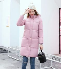 SWREDMI Winter Jacket Women 2017 New Medium-Long Cotton Parka Plus Size Coat Slim Fashion Solid Thick Winter Clothing