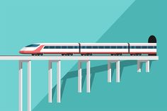 Travel by Train by on Envato Elements , [post_tags Train Illustration, Graphic Illustration, Train Vector, Metro Rail, Rail Transport, Journey Mapping, Job Ads, Electric Train, By Train