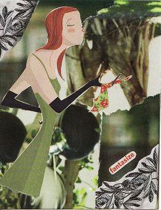FANTASIZE - original collage art by Matthew Hoffman - prints now available on Fine Art America