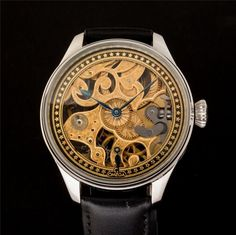 Rare Aged Gorgeous Swiss OMEGA SKELETON Watch Stainless Steel Case Engraved Dial | eBay